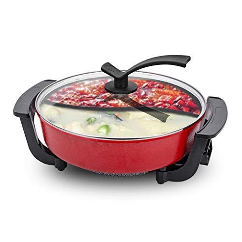 1300W Parrilla BBQ Eléctrica - Barbacoa y Hot Pot Cocina Sin Humo...