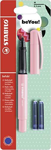 Tintenroller - STABILO beFab! Pastel in Pastell rosa - Einzelstift - inklusive 3 Patronen