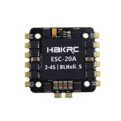 Silverdrew 20A 4-EN-1 BLHELI_S ESC Mini F3 F4 Tablero controlador de vuelo Barómetro incorporado OSD 20x20mm Soporte sin escobillas 4S para FPV Drone