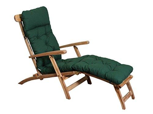Ambient home Coussin pour Chaise longue EVJE Vert 195 x 49 x 8 cm 90412