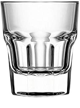 Circleware Scorchers Shot Set of 6 Heavy Base Glassware Drinking Glass Cups for Whiskey Vodka Brandy Bourbon and Best Selling Liquor Beverage Bar Dining Decor Gifts 1.5 oz Clear