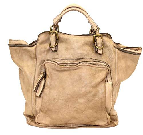 BZNA Bag Rob taupe Backpacker Designer Rucksack Damenhandtasche Schultertasche Leder Nappa sheep ItalyNeu