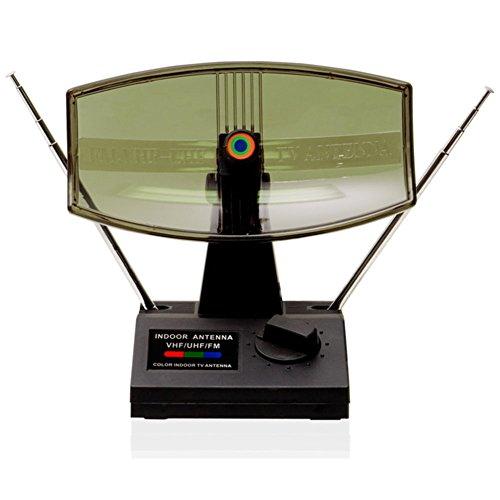 QFX ANT-3 90 Degree Rotating Antenna HD DTV VHF UHF Receiver FM Radio Ready Consumer Electronics
