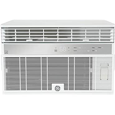 GE AHY12LZ Smart Window Air Conditioner with 12000 BTU Cooling Capacity Wifi Connect 3 Fan Speeds 115 Volts 11.4 CEER
