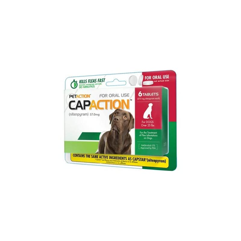 dog supplies online capaction oral flea treatment large dog 6ct