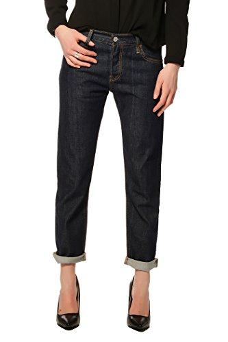 Levi's Damen Jeans Hose 501 CT Boyfriend Marineblau (W23/L34)