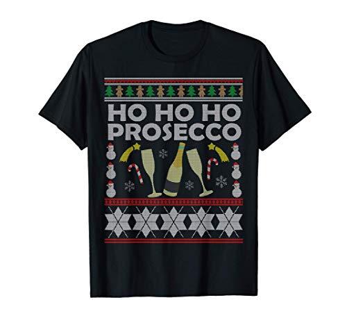 Prosecco Ho Ho Ho regalo del amante del vino de la Navidad Camiseta