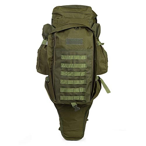 LOLPI 60L al aire libre Militar Mochila Pack Mochila para Caza Tiro Camping Trekking Senderismo Viajar, verde, 40.00 x 35.00 x 10.00 cm / 15.75 x 13.78 x 3.94 in