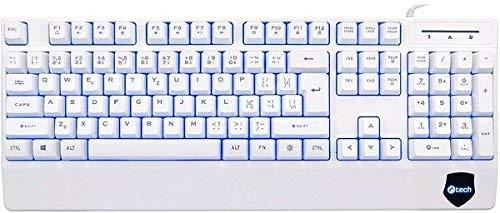 C-TECH KB-104W Tastatur USB Tschechisch, Slowakisch Weiß - Tastaturen (Standard, Verkabelt, USB, Membran-Schlüsselschalter, Weiß)