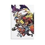 Póster de anime Pokemon De Ash En Alola Pintura decorativa Lienzo Arte de la pared Carteles de la sala de estar Pintura del dormitorio 30 x 45 cm