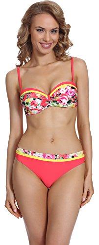 Merry Style Damen Push Up Bikini Set P509-53MIA (Muster-5, Cup 75 C/Unterteil 38)