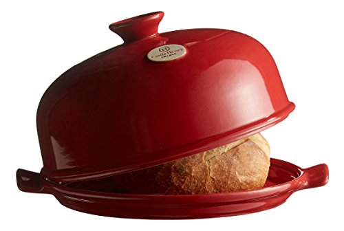 Emile Henry Made In France Bread Cloche, 13.2 x 11.2'', Burgundy