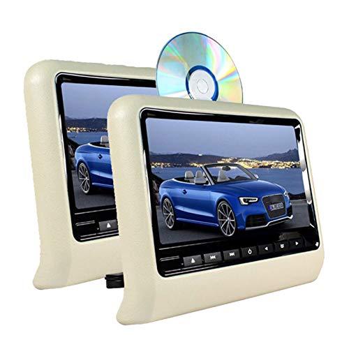 wansosuper 2 Car Mp5 Player, Ultradünnes Multimedia-DVD-Display, 9-Zoll-hd-Plug-in-typ, Unterstützung Für Drahtloses Spielen, Infrarotemission, Audio- Und Video-Unterhaltung Auf Dem Rücksitz,Beige