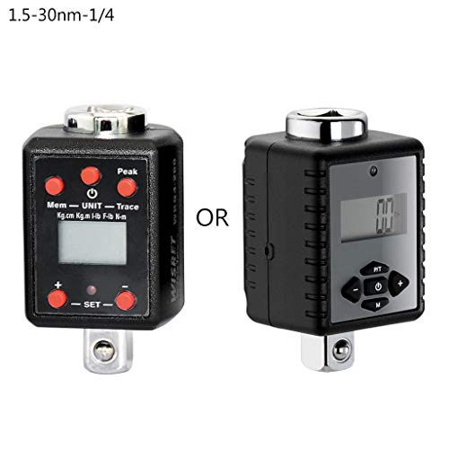 Luluspace Digitaler Drehmomentadapter Drehmomentschlüssel 1,5-1000nm Adapter 1/4 3/8 1/2 3/4 Microtorque (1.5-30nm-1/4)