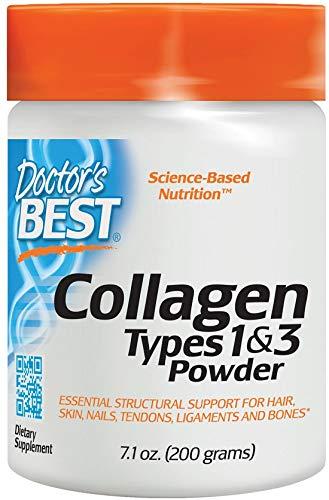 Doctor's Best, Colágeno, tipos 1 y 3 en polvo, 200 g, sin soja, sin gluten