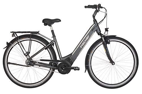 Fischer E-Bike City CITA 5.0i, schiefergrau matt, 28 Zoll, RH 44 cm, Brose Mittelmotor 50 Nm, 36 V Akku im Rahmen