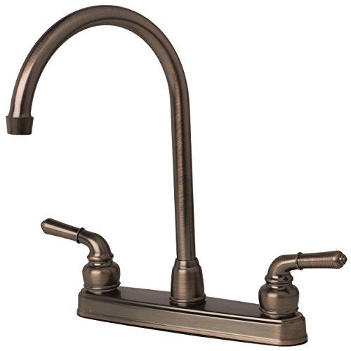 Laguna Brass 1201BZ RV/Motorhome Two Handle Non-Metallic High Arc Swivel Kitchen Faucet, Brushed Bronze Finish