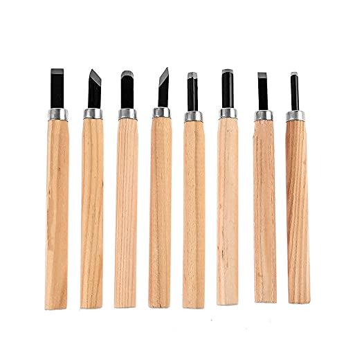 Cuchillo de cincel para tallar madera, 8/10/12 piezas, juego de herramientas de trabajo de madera para herramientas de carpintería de gubias básicas y detalladas, 8 piezas