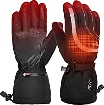 Heated Gloves Waterproof Snowboard Men - Women Rechargeable Windproof,Electric Heat Gloves for Motorcycle,Ski,Hunting,Biking, Fishing,Golf,Typing,Winter Heated Gloves Touchscreen for Cold Hand