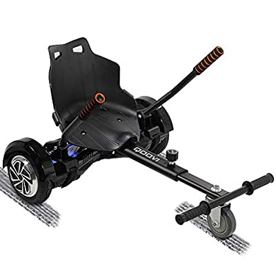 Qoovi Cool Mini Hoverboard Kart Accessories Adjustable for -All Heights- All Ages-Two Wheel Self Balancing Scooter -Compatible with All Hoverboards,Like A GO-Kart(Black)(Not Included Balance Board)