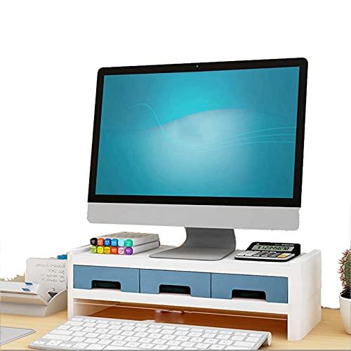 QYQS Soporte para Monitor, Soporte de Monitor de PC, Monitor de Soporte Elevador con Cajones, Una Variedad de Especificaciones para Elegir(Size:Marco Elevado de Doble Capa)
