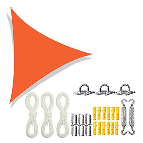 MIAE Vela Triangular Impermeable para El Sol, Toldo para Jardín, Toldo para Patio, Kit De Pérgola para Piscina, Lona para Tienda Flotante, para Patio, Jardín, Patio Trasero Al Aire Libre .3m Orange.