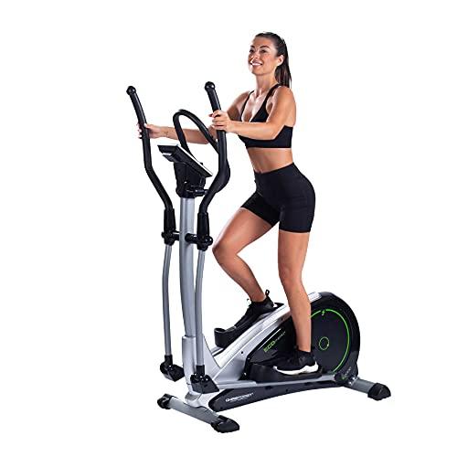Christopeit Sport Crosstrainer Ergometer Eco 2000 - Generator, Magnet-Bremssystem, USB, Kinomap-App, bis 150kg Gewicht