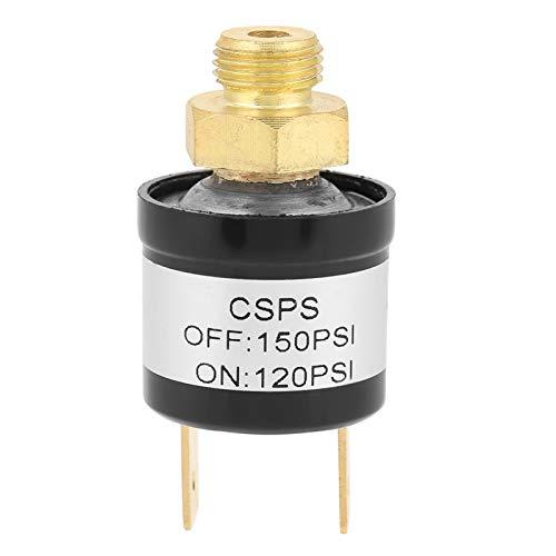 Interruptor de presión del compresor de aire Interruptor de control de presión de aire 120-150PSI 1/8'NPT Bomba de aire del automóvil Compresor Interruptor de aire de presión del tanque de aire