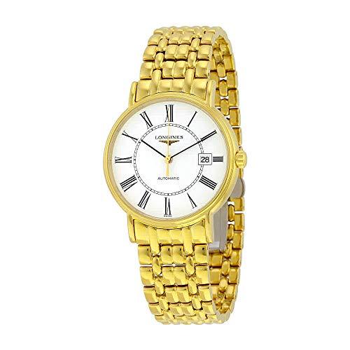 Longines Heren Gouden Toon Staal Armband & Case Automatische Witte Wijzerplaat Analoog Horloge L49212118