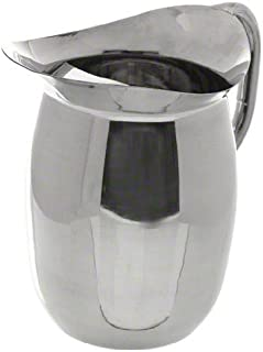 3 Qt. Stainless Steel Bell Pitcher w/Ice Guard