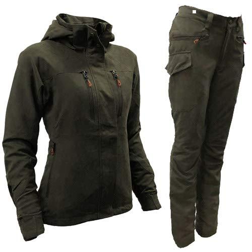 Game Ladies Elise Waterproof Jacket Multipocket Hooded Hunters Green Womens Coat