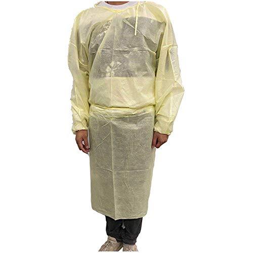 『100枚入り イエロー 使い捨て防の護の服 フリーサイズ 男女兼用』の6枚目の画像