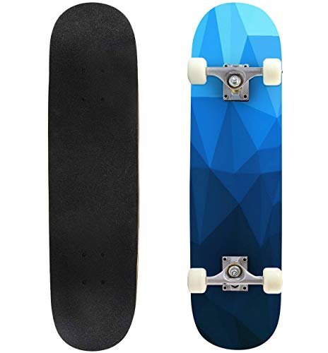 powerful Classic concave skateboard polygon deep blue longboard maple deck extreme sports and outdoors …