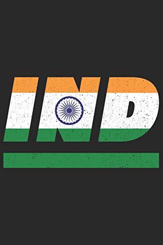 IND: Indien Tagesplaner mit 120 Seiten in weiß. Organizer auch als Terminkalender, Kalender oder Planer mit der indischen Flagge verwendbar