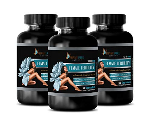 Fertility Supplements for Women Best Seller - Female Fertility Advanced Complex - Damiana for Women - 3 Bottles 180 Capsules