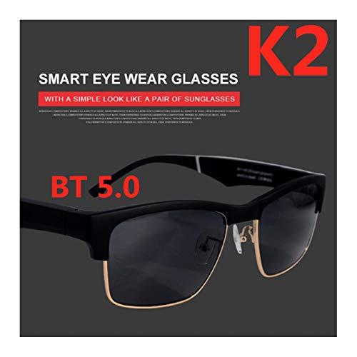 RHSMW Gafas Inteligentes De Conducción Ósea,Gafas Inteligentes Audio Abierto Bluetooth 5.0 Estéreo Deportes Coche Hombres Y Mujeres Polarizer De Moda Universal