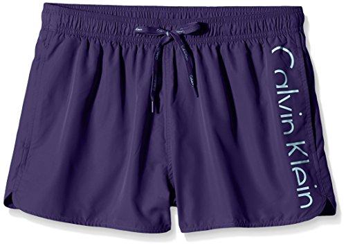 Calvin Klein Short Drawstring Bañador, Astral Aura/Bluebird, M para Hombre