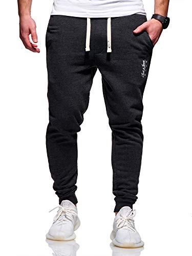 JACK & JONES Herren Jogginghose Sweat Pants Trainingshose Freizeithose Joggers Streetwear (Large, Dark Grey Melange)