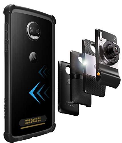 Casewe – Funda para Motorola Moto Z2 Force/Bumper Protector Compatible con Moto Mods – Negro Mate