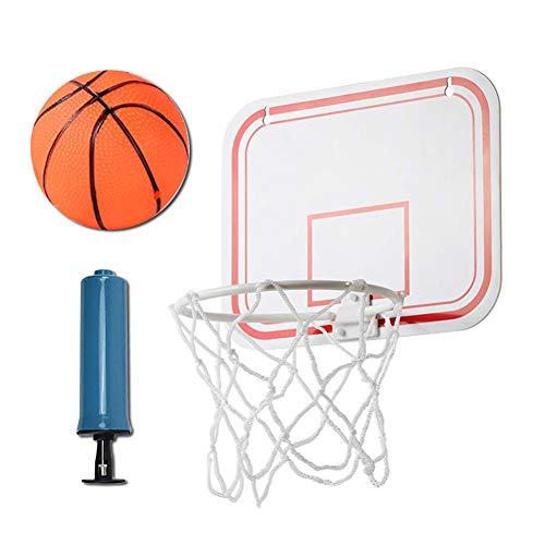 Mini gancho de aro de baloncesto ENCENDIDO y ABRAZADERA para trampolín de interior/exterior, pontón, dormitorio, camping, chupar rueda, playa, litera, ejercicio en el hogar de oficina, ponche gratis