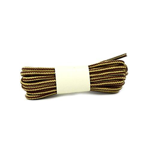 YaToy Runde Streifen Schnürsenkel für Turnschuhe,Gelb Dockers Schnürsenkel Schuhe und Stiefel Ersatzschnur gelb braun