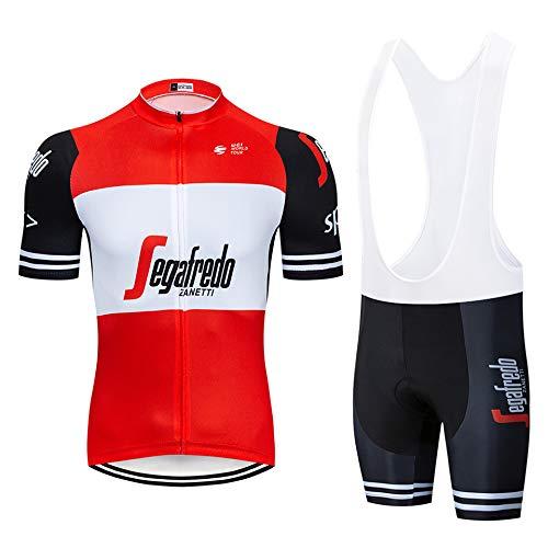 Abbigliamento Ciclismo Set Uomini Traspirante Confortevole Maglia Ciclismo Estivo con Pantaloncini Imbottiti in Gel Set Abbigliamento da Ciclismo per MTB Completo Ciclismo Estivo Team