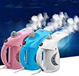 BHAVYA Clothes Wrinkle Remover Clean Sterilize Sanitize Plastic Iron Portable Handheld Steamer for Facial/Clothes (Multicolour)