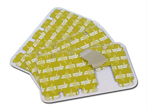 FIAB 33341 Elettrodi ECG Monouso Universali, Forma Tab, 1 Confezione da 100 Elettrodi, PreGellati-Adulti, 34 x 23 mm