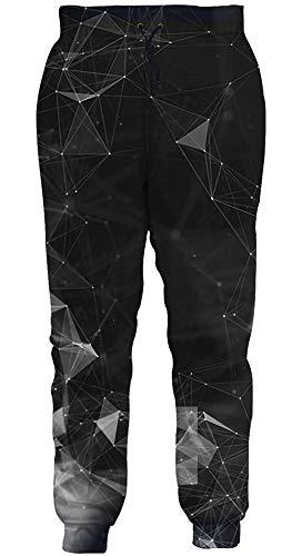 Loveternal Unisex Geometrisch Jogginghose 3D Druck Hosen Training Jogger Patriotische Sweatpants für Jungen Mädchen M