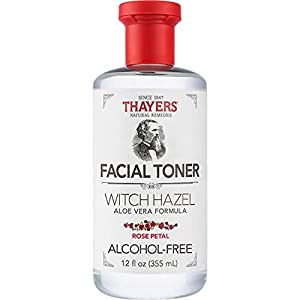 THAYERS Alcohol-Free Rose Petal Witch Hazel Facial Toner with Aloe Vera Formula, 12 Ounce by Thayers