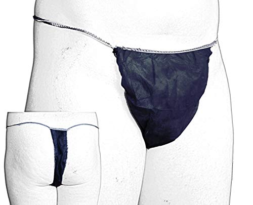Einmalslip, Vlies Tangas Herren Stringform blau 50 Stück für Kosmetik Tattoo Intim