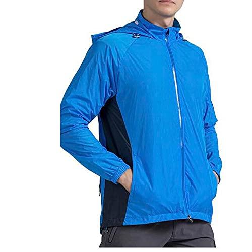 Ypnrd Hombre Mujer Chaqueta De Ciclismo para Ciclismo Ropa De Bicicleta para Montar A Caballo, Correr,Azul,XL