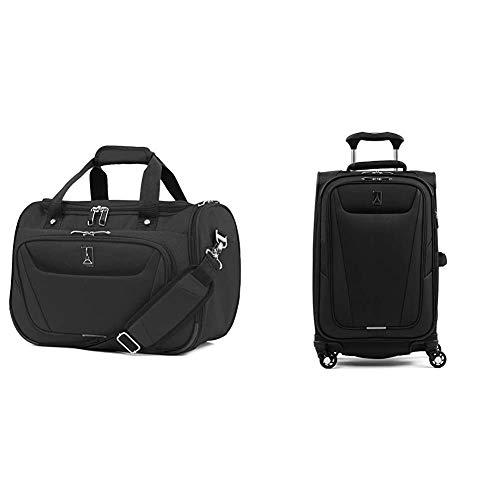 Travelpro Maxlite 5-Softside Expandable Spinner Wheel Luggage, Black, 2-Piece Set (Tote/21)