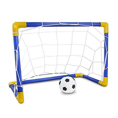 MEROURII Kinder Fußballtor Fußballspielzeug Set,Mini Fußballtraining Übungsziel Post Net Ballset mit Ballpumpe,Indoor Outdoor Fußball Sportspiele